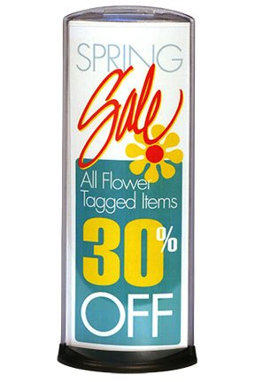 Business sale signs made easy with Podia tabletop displays