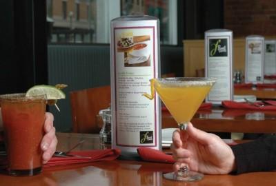 Podia Table Displays at Food Dance Restaurant
