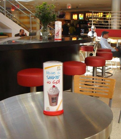 Podia display for major fast food chain