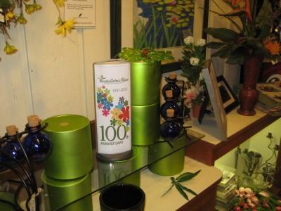 VanderSalm's Flowers Podia Display