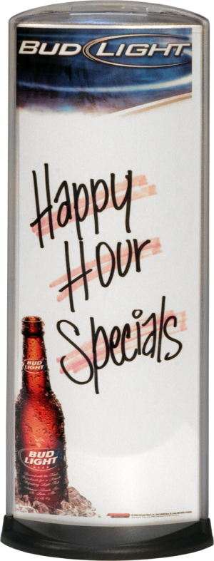 Podia Vertical Display - Happy Hour Specials Reverse