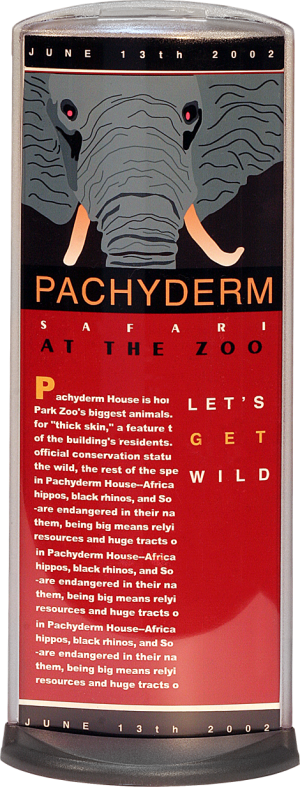 Podia Vertical Display - Pachyderm