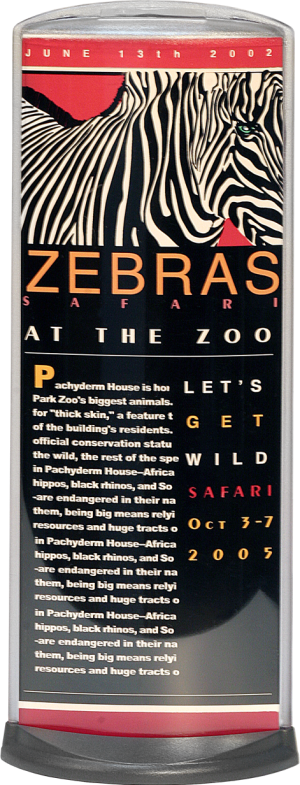 Podia Vertical Display - Zebras At The Zoo