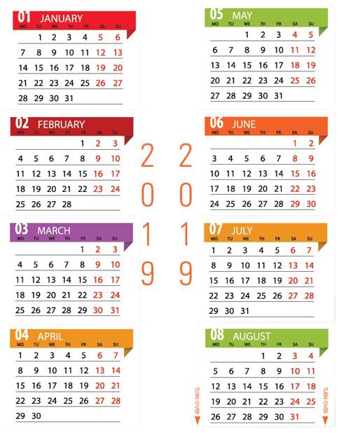 2019 Calendar Option 2